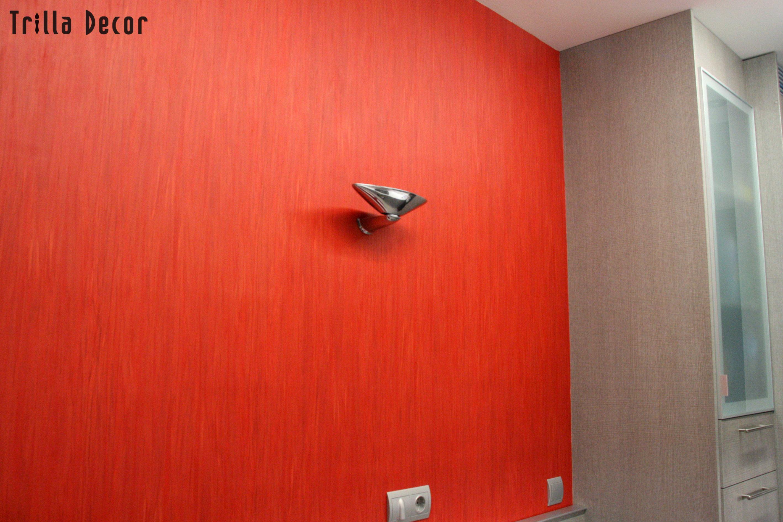 Papel Pintado motivo jaspeado y color rojo
