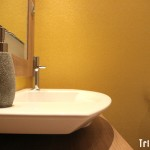 Papel Pintado texturado en baño